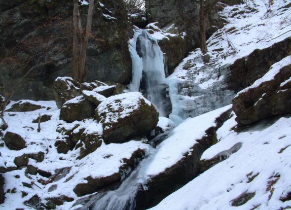 不動の滝 落差50m