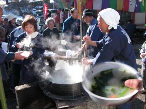 七草粥祭り