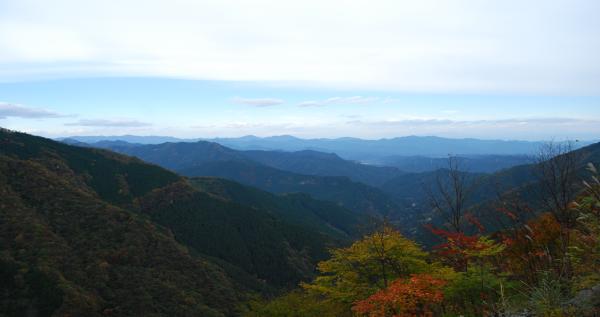 大血川渓谷紅葉