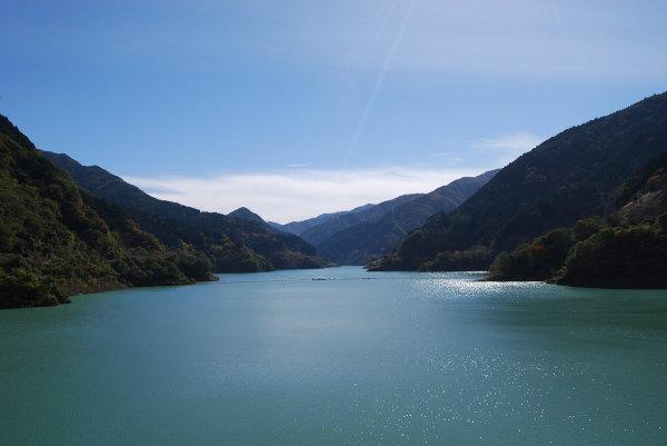 浦山ダムから見る景色